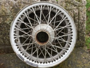 4 wire wheels for Jaguar XK 120 or XK 140