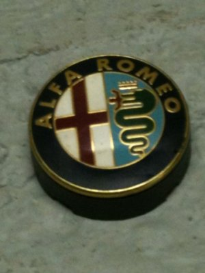 badge arri re pour alfa romeo. Black Bedroom Furniture Sets. Home Design Ideas